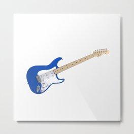 Blue Electric Guitar Metal Print