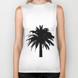 Black and white palm tree Biker Tank