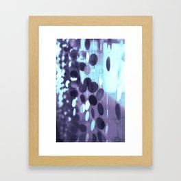 GLAM CIRCLES #Mint/Blue #1 Framed Art Print