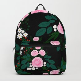 Elegant Pink and white Floral watercolor Paint Backpack