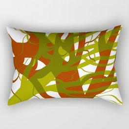 Green And Orange Trees Rectangular Pillow