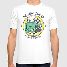 Beluga Caviar (Extravagant Eating Competitions) White MEDIUM Mens Fitted Tee