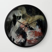 imagerybydianna Wall Clocks featuring ritual; carousel thoughts by Imagery by dianna