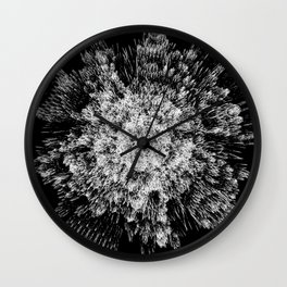 Spiky black and white Wall Clock