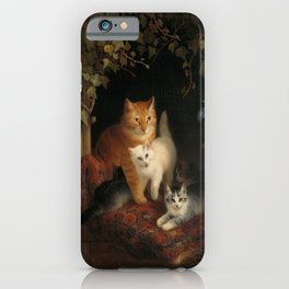 Cat with Kittens, Henriëtte Ronner, 1844 iPhone Case
