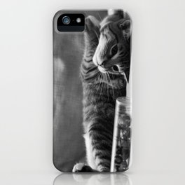 Kitty is Less Than Three Dice iPhone Case