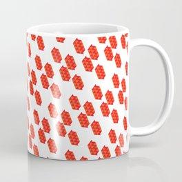 Pattern | Red Triangles Coffee Mug