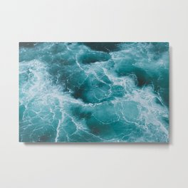 Electric Ocean Metal Print