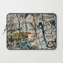 Berlin Wall Graffiti Laptop Sleeve