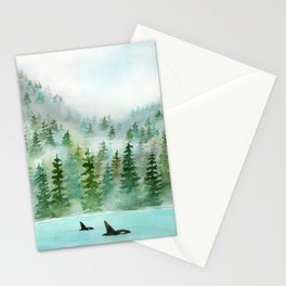 Pinetrees and Orcas Stationery Cards