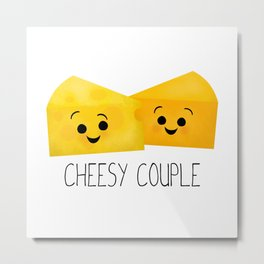 Cheesy Couple | Swiss & Cheddar Cheese Metal Print