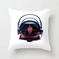 radiohead Throw Pillows featuring Radiohead by Steven Toang