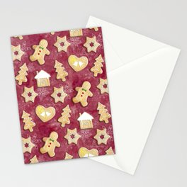 Gingerbread Christmas Cookies Stationery Cards