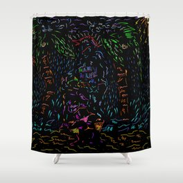 That One Stormy Night In Coconut Grove Miami  Shower Curtain