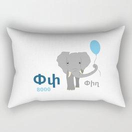 Elephant - Pigh Rectangular Pillow