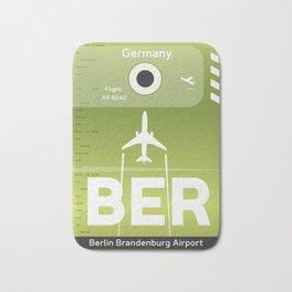 BER BERLIN AIRPORT CODE Bath Mat