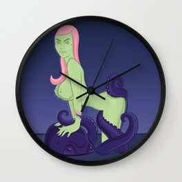 Tentacle love  Wall Clock