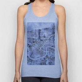 New Orleans Street Map Unisex Tank Top