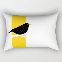 Turdus Merula 01 Rectangular Pillow