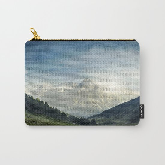 the Alps - Sunlit Suretta Massif Carry-All Pouch