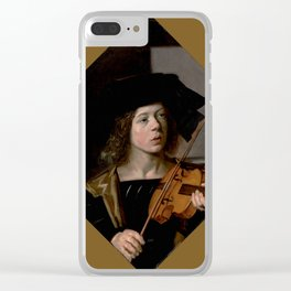 """Frans Hals """"The violinist"""" Clear iPhone Case"""
