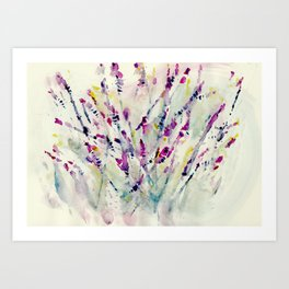 Floral Impression / Meadow Scatter Art Print