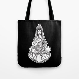 Chinese god. Beautiful goddess. Peace. Beauty concept. Meditation. Healing concept. Chinese medicine Tote Bag