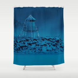 Pier and lighthouse Shower Curtain