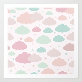 Pastel Clouds Art Print