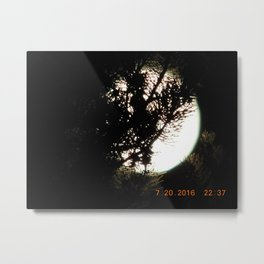 road trip, moon thru the trees, detail, moon, night, #3 Metal Print