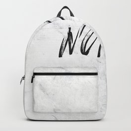 NOPE Marble Quote Backpack