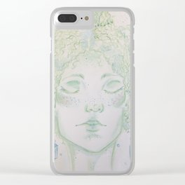 A woman of Crystals Clear iPhone Case