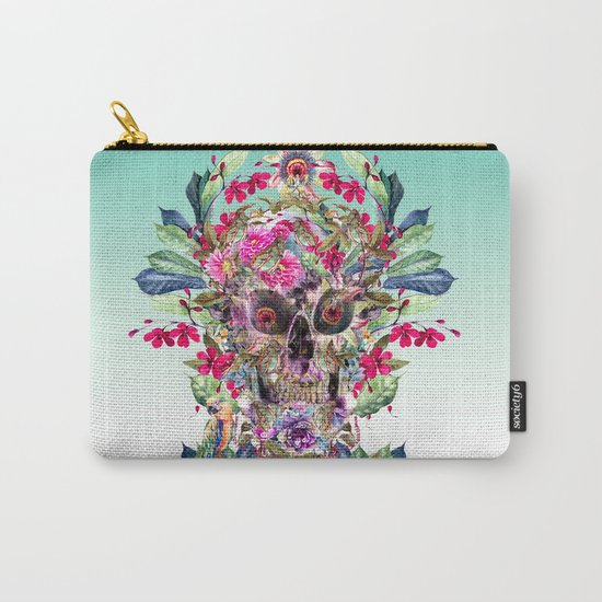 Momento Mori Floral Carry-All Pouch