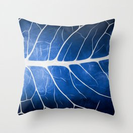 Glowing Grunge Veins Throw Pillow