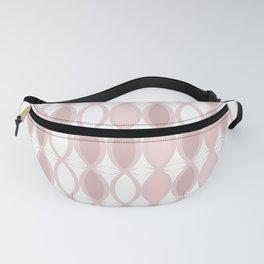 Pinkish - brown pattern on white. Fanny Pack