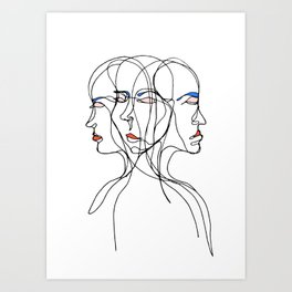 Conflicted Identity Art Print