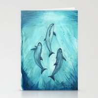 river song Stationery Cards featuring Song of the Vaquita  by Amber Marine