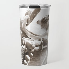 Naked Cowboy (sepia) Travel Mug