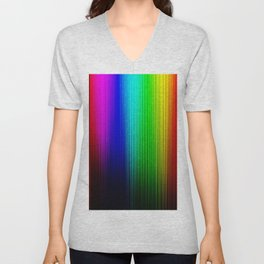 Colorful background with vertical lines on black gradient background Unisex V-Neck