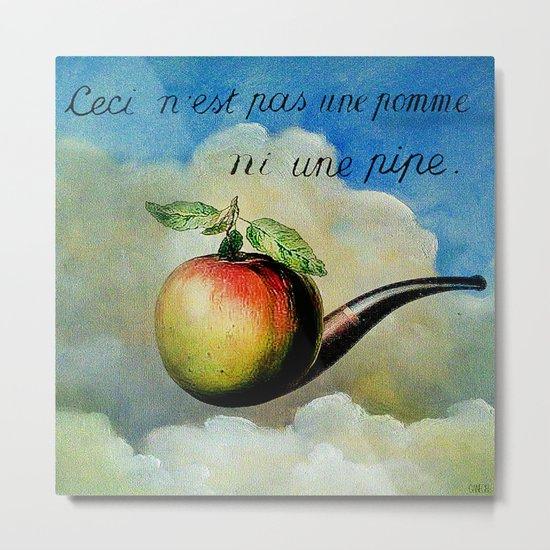 Ceci n'est pas une pomme ni une pipe Metal Print