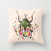 insect Throw Pillows featuring Insect VII by dogooder