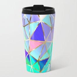 Rainbow Geometric pattern #6 Travel Mug
