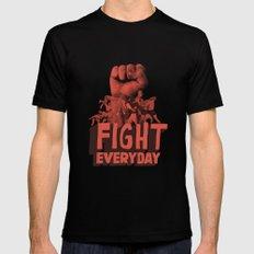 FIGHT EVERYDAY MEDIUM Mens Fitted Tee Black