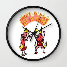 jeje marihuana dude Wall Clock