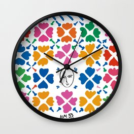 Large Composition with Masks by Matisse Wall Clock