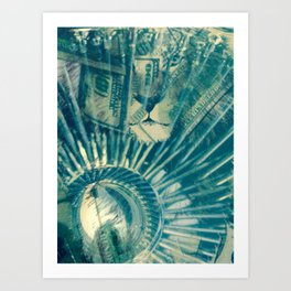 Iron Clad Cash Money Art Print