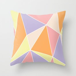Candy Triangles Throw Pillow