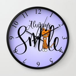 Always Smile Wall Clock