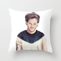 louis armstrong Throw Pillows featuring Louis  by thestoryischanging