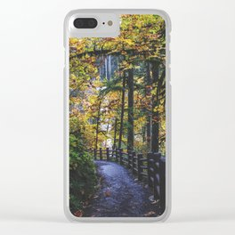 Glowing Yellow vertical Clear iPhone Case